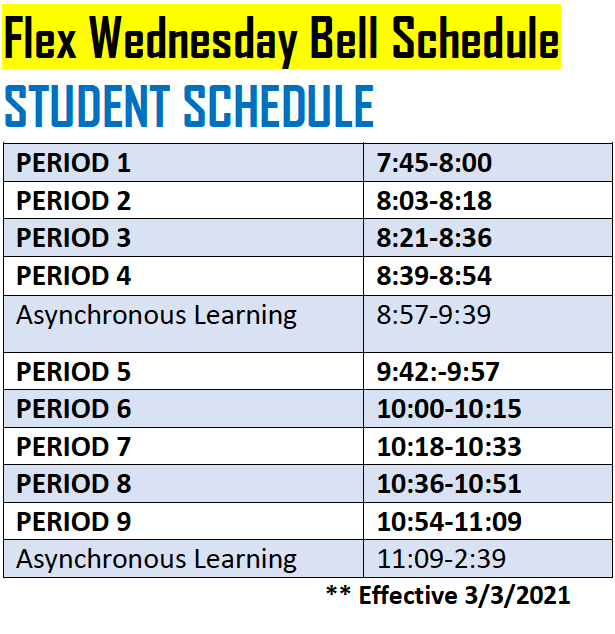 Day of Flex schedule