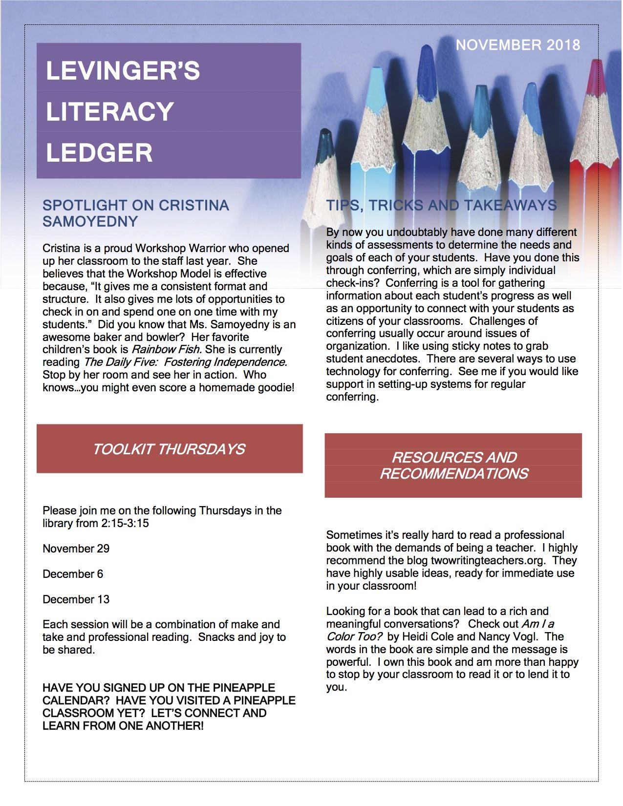 Literacy Newsletter