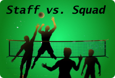 Staff vs. Squad Volleyball Game has been rescheduled for Tuesday, November 28, 2018