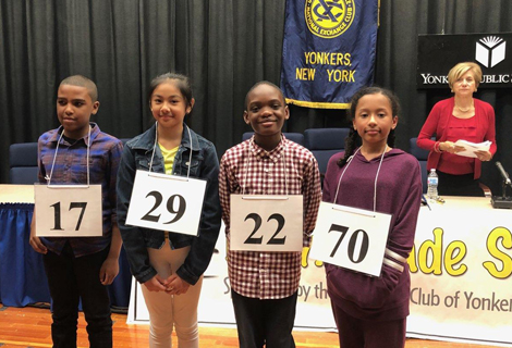 The winners of the 5th grade spelling bee are pictured