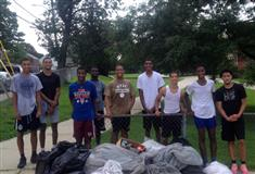 Lincoln's Basketball Team Community Service