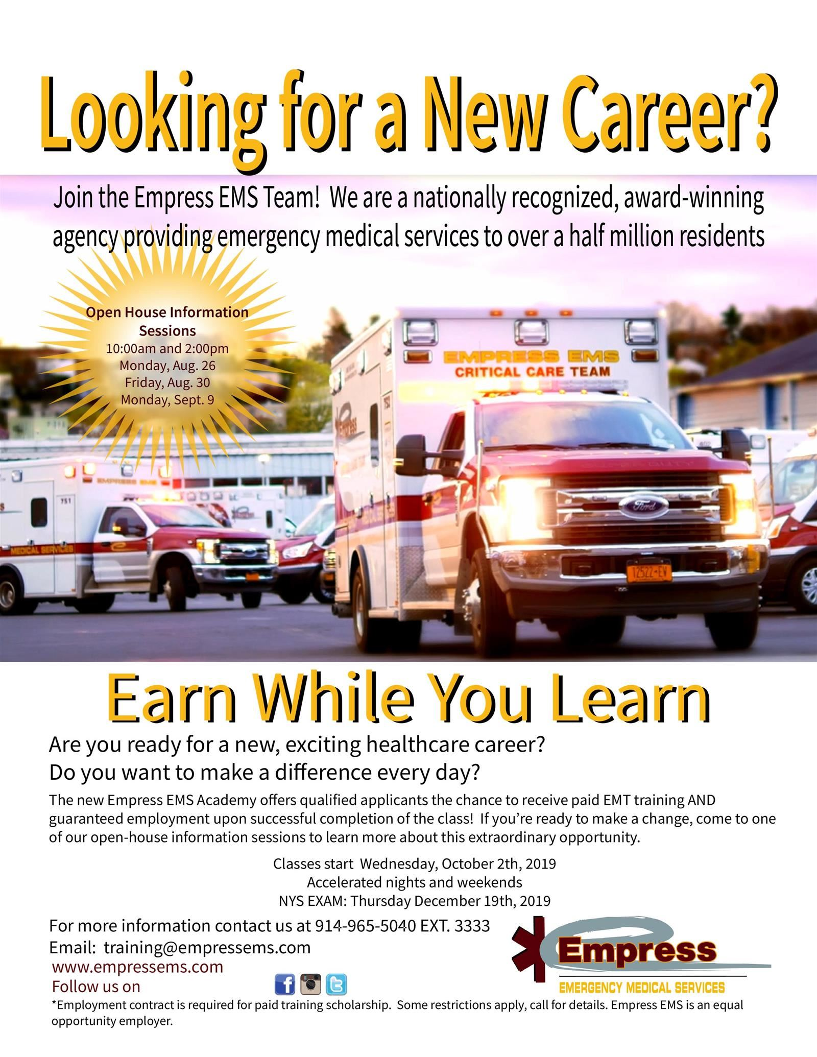 EMT Academy - Paid Training