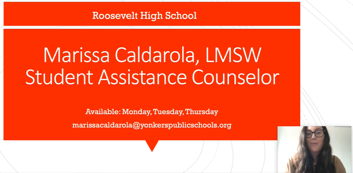 Student Assistance Counselor WELCOME VIDEO