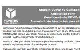 Student Covid Printable Form