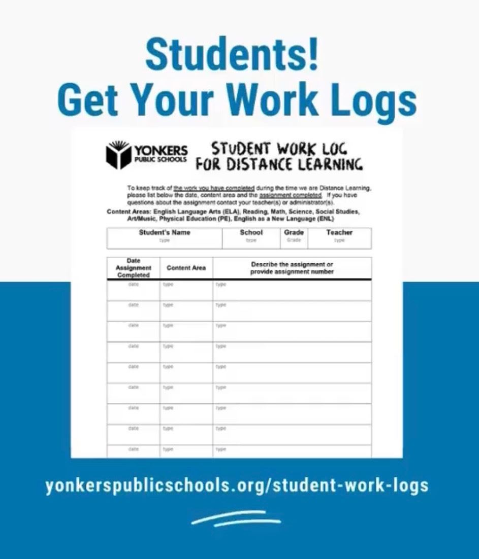 Student Work Log for Distance Learning