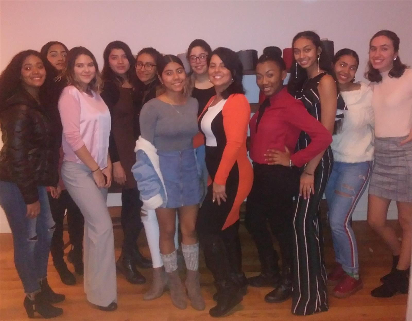 Saunders HS students attend the HER HONOR Mentoring Holiday Celebration