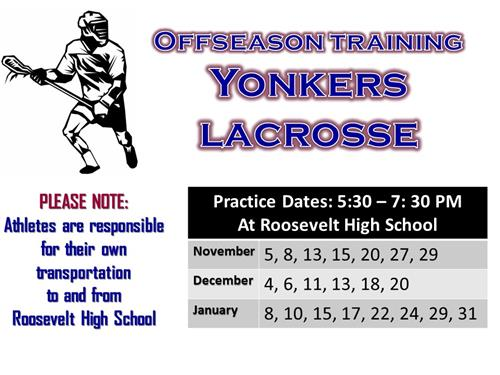 Yonkers Lacrosse Off-season Practices