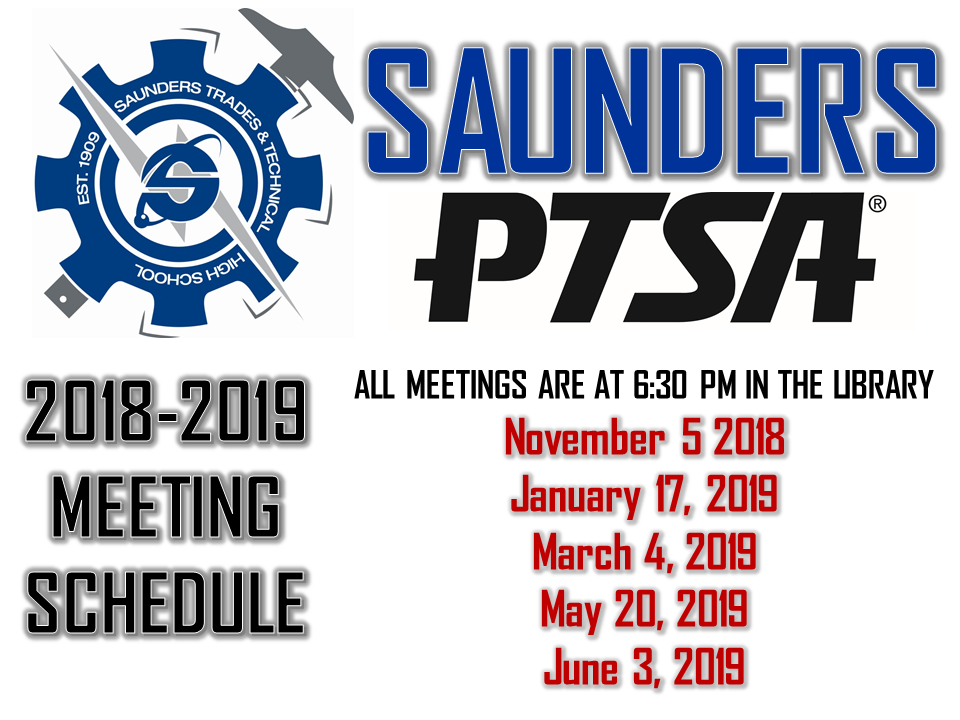 Saunders PTSA Meeting Dates