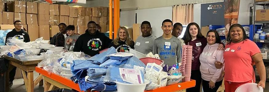 Roosevelt High School A-Team volunteers at AFYA on a regular basis