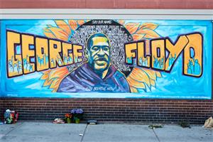 Xena Goldman, Greta McLain, and Cadex Herrera made the mural to give the community a place to mourn on 38th & Chicago