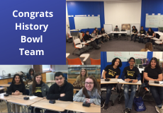 Hitsory Bowl Team is going to Nationals in April!  Way to go!