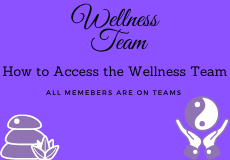 How to Access the Wellness Team
