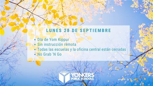 School Closed Spanish Yom Kippur